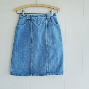 1980s Georges Marciano for Guess Denim Skirt